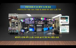 안양시의회 IP 실시간 HD 디지털 중계 시스템 공급